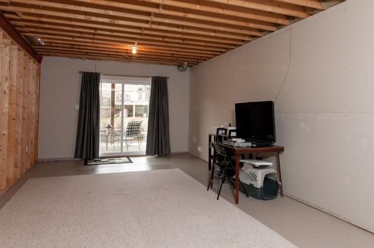 Open area in lower level