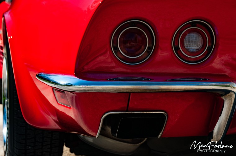 Tail lights of a Corvette