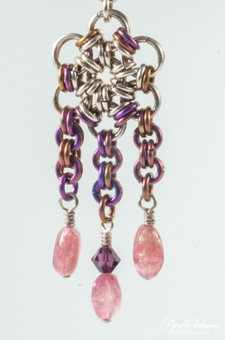 Pink and Purple earring